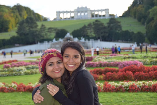 2020 Bearden High School valedictorian Samaya Baljepally, right, is shown with her mother, Gayathri Baljepally, during a trip to Vienna, Austria, while in high school.