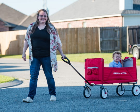 Brittany Prevost with her son Logan on Thursday, April 30, 2020.