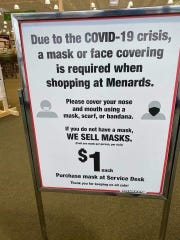 Face coverings will be mandatory for all shoppers at the Manitowoc Menards starting Monday according to Facebook.