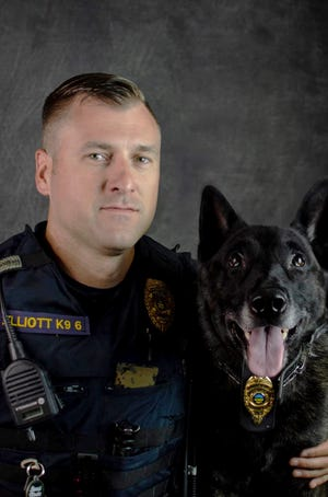 Lt. Mark Elliott of the Marion Police Department has been named the 2020 Light Ohio Blue Officer of the Year for his work in supporting fellow law enforcement officers. Elliott, shown with his K-9 partner Six, has worked at MPD since 2002.