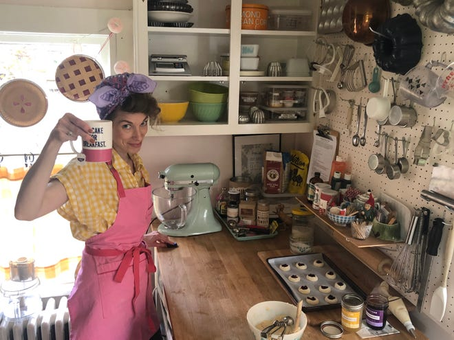 """Kat Gordon of Muddy's Bake Shop has launched a weekly online cooking and variety show called """"Muddy's Fun House."""""""