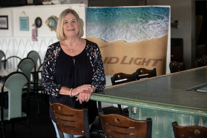 Jan Goings, owner of Jan's Beach House Grill on Eastern Boulevard in Montgomery, is celebrating her restaurant's eighth anniversary with a luau on Thursday.