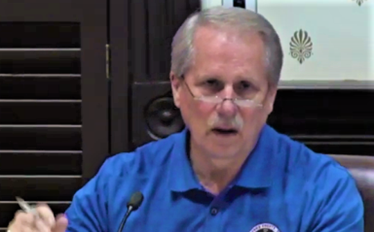 Rutherford County Mayor Bill Ketron speaks to the County Commission Public Safety Committee about his recommended budget cuts Monday (April 27, 2020).