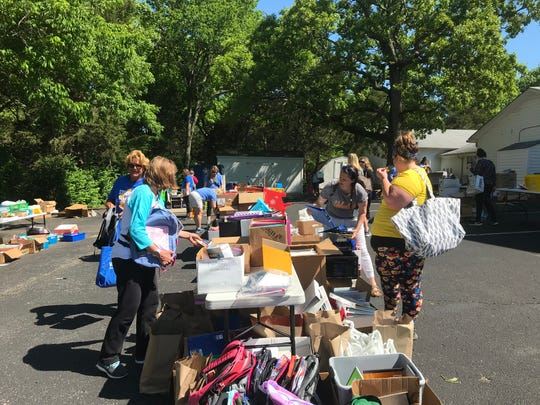 Teachers at West Wilson Middle and Stoner Creek Elementary, whose school buildings were damaged by a tornado in early March, were able to pick up donated supplies May 1, 2020, at Cook's United Methodist Church. An estimated $10,000 in supplies were donated locally and from other states.