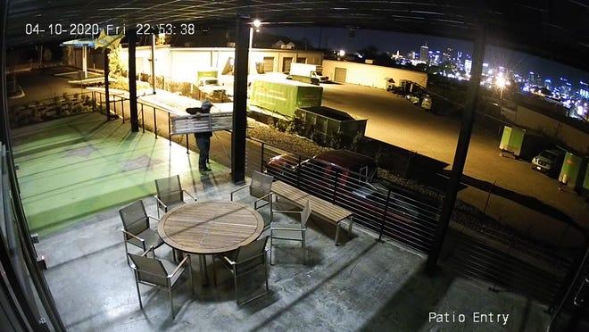 Reported North Nashville non-profit furniture thief.