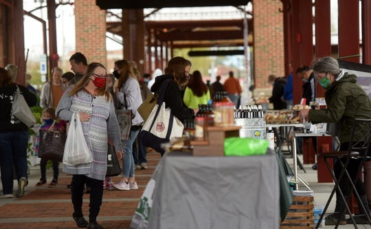The Canal Market District opened for their fifth season on Friday, May 1, 2020 with some alterations for the safety of vendors and clients amid the continuing coronavirus pandemic. Access was restricted with one entrance and exit. All were asked to follow social distancing of at lest six feet, to wear masks if able, and to allow vendors only to handle produce and merchandise. The market will be open Fridays from 4-7 and during the same hours on Tuesday beginning in June.