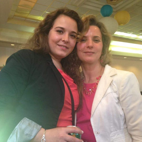 Gordana, left, is an ambulatory nurse now reassigned to caring for COVID-19 patients.
