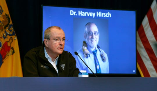 Lakewood pediatrician Dr. Harvey Hirsch was remembered during New Jersey Governor Phil Murphy's Friday, May 1, 2020, press conference at War Memorial in Trenton, NJ, on the State's response to the coronavirus pandemic.