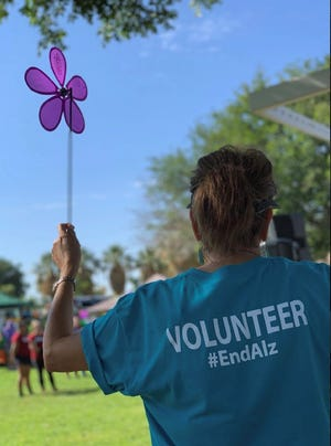 A participant is pictured at the 2019 Walk to End Alzheimer's.