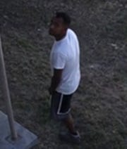 The Las Cruces Police department and Crime Stoppers are seeking the identity of this man, who is accused of burglarizing a business located in the 1100 block of east Madrid Avenue, April 11, 2020.