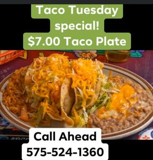 Dick's Taco Tuesday special, $7 taco plate.