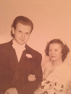William and Sarah Niffin on their wedding day on April 8, 1950.