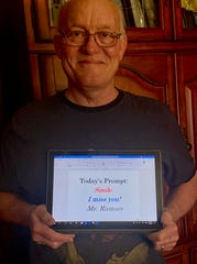 Teacher Tim Ramsey emails his students, 32 in his homeroom and 120 in his writing classes, sending uplifting messages every day and asking if they're OK. He calls parents, too.