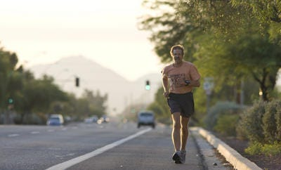 Craig Davidson's running streak of more than 41 years ended April 7 after he was taken to the hospital to treat a bacterial infection.