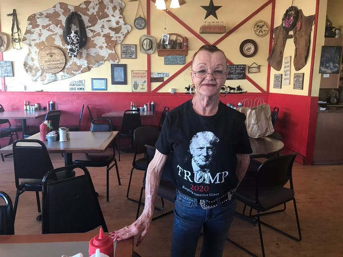 """Debra Thompson, owner of Horseshoe Cafe, reopened her restaurant for dine-in on May 1, 2020. She says business was severely diminished when she was only open for takeout and that she wouldn't accept government money. """"I just want to work and earn my own money,"""" she says."""