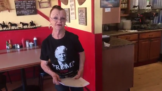 Deb Thompson, owner of Horseshoe Cafe in Wickenburg,  on May 1, 2020, says she will continue to disobey Gov. Doug Ducey's order banning restaurants from offering dine-in service.