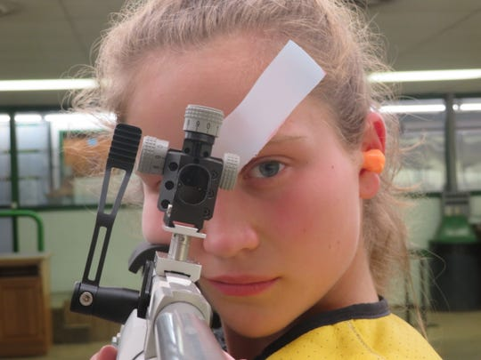 Erin Diehl, a freshman at Morehead State University in Kentucky, is one of many young shooters who have benefited from training at Palmyra Sportsman's Club,