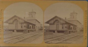 A photo of the Western Maryland railroad station taken by H. Frank Beidel.