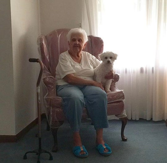 Grandma in her favorite chair.