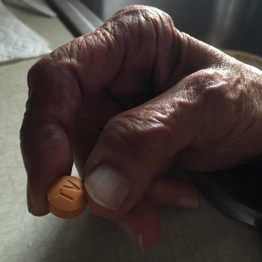 Grandma's hands.