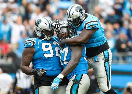 Mario Addison (97) and Vernon Butler (92) were both signed away from the Panthers by the Bills.