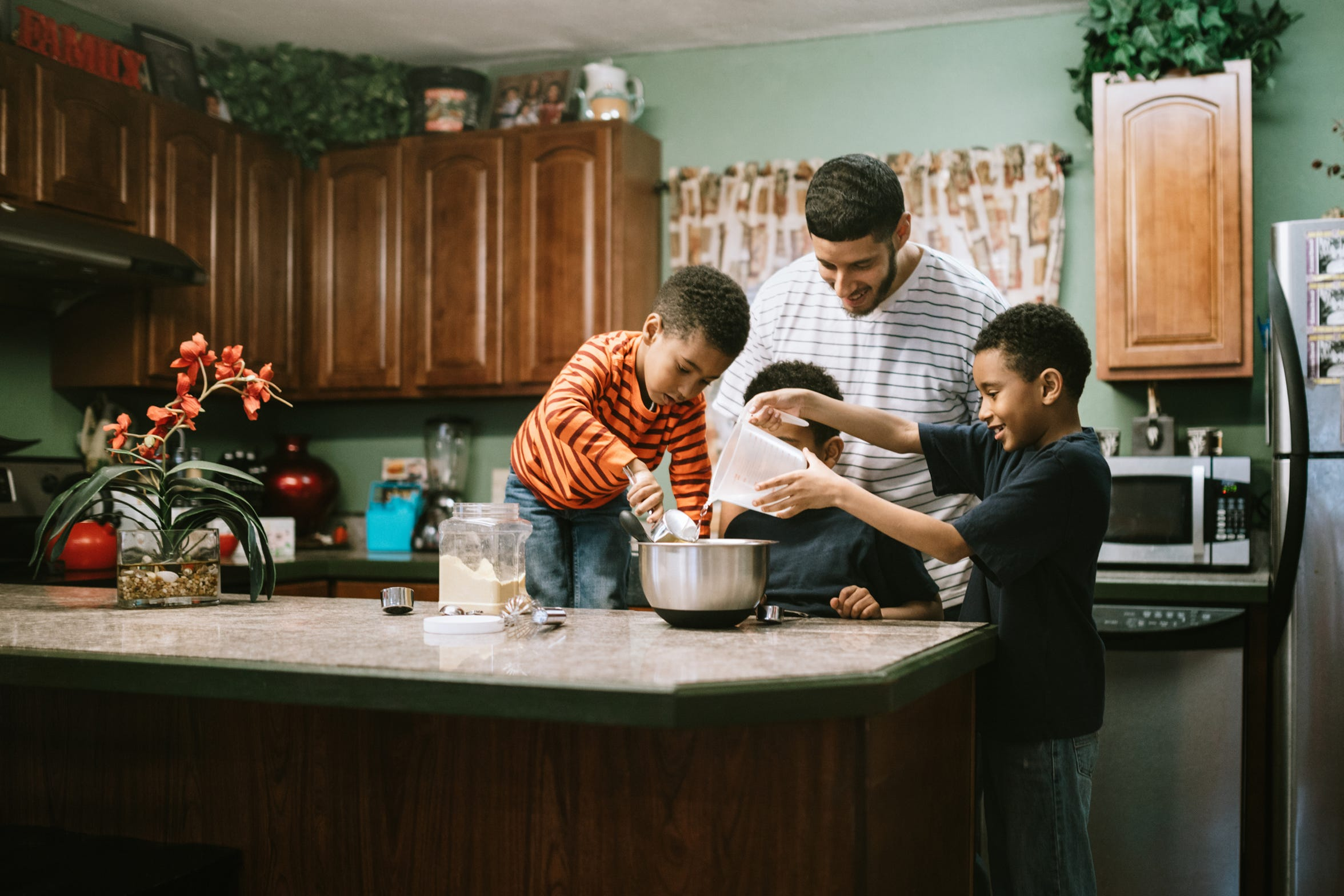 Focus on what you can control, such as teaching your children how to cook a favorite family dinner.