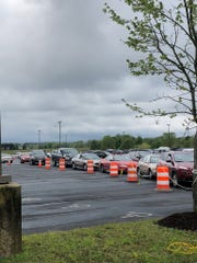 A two-day, drive-thru testing outfit will be held outside Arthur W. Perdue Stadium, focusing resources on  critical workers in the region's poultry processing plants and their families, kicked off Friday, May 1, 2020.
