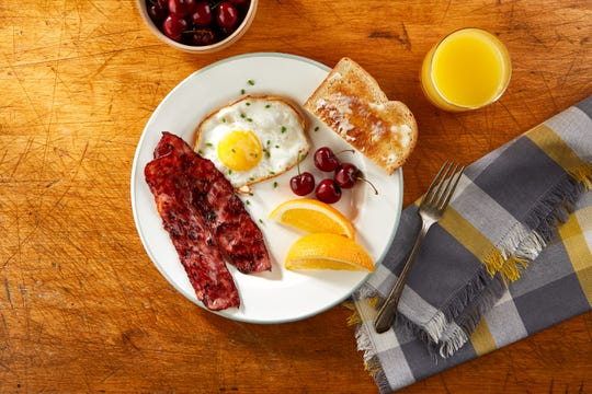 Eggs with bacon or sausage is now eggs with sausage in the form of bacon with Johnsonville's new Sausage Strips.