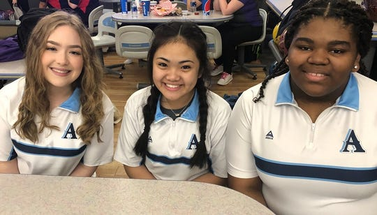 Airline's Trista Quinley, Paris Mendones and Jayda Ellison are some of the top bowlers in the region.