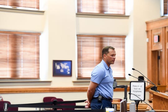 Sanford representative Dr. Mike Wilde speaks to the city council concerning the first reading of the proposal to ease occupancy restrictions in businesses on Friday, May 1, at Carnegie Town Hall in Sioux Falls.