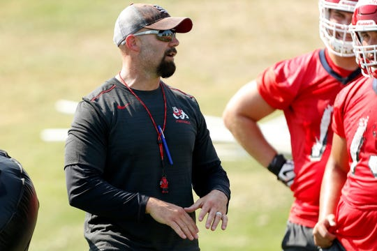Ryan Grubb has coached at South Dakota State, USF, Eastern Michigan and now Fresno State, where he is offensive coordinator.