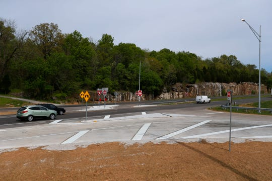 The intersection of Farm Road 192 and South Campbell Avenue on Friday.