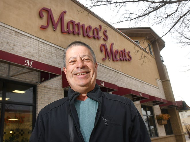 Manea's Meats co-owner Juan Castellanos is pictured outside the store Friday, May 1, 2020, in Sauk Rapids. Castellanos has won the 2020 Sauk Rapids Citizen of the Year award.