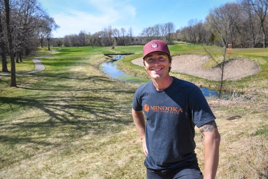 Cale Leiviska is pictured near a stream Monday, April 27, 2020, at the Airborn Disc Golf Preserve in Clearwater.