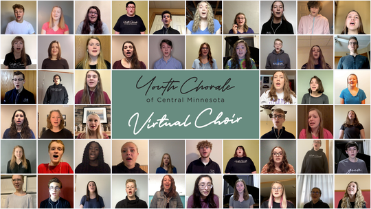The Youth Chorale of Central Minnesota will be holding a virtual concert at 7 p.m. Sunday, May 3.