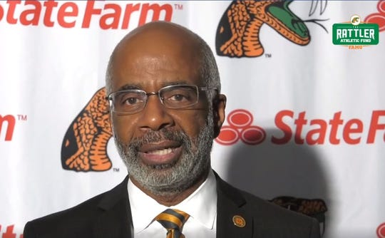 FAMU President Larry Robinson gave the opening remarks to the student-athlete class of 2020 graduates during a social media live virtual celebration on Friday, May 1, 2020.