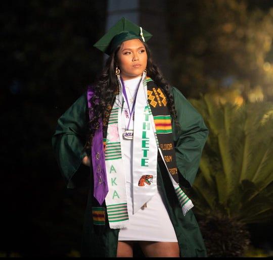 Alelee Figueroa was among the many student-athletes honored during the social media live virtual graduation tribute hosted by FAMU athletics on Friday, May 1, 2020. Figueroa competed as a thrower on the women's track and field team.