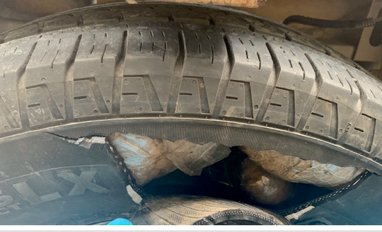 U.S. Border Patrol agents seized about 42.5 pounds of methamphetamine which has a street value of more than $1.3 million Thursday at a checkpoint East of El Paso.