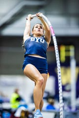 Elise Romney (nee Machen), a Franklin alum, is a senior pole vaulter at Brigham Young