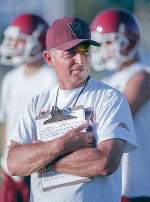 Mt. Whitney varsity football coach Charlie Casale in 1999.