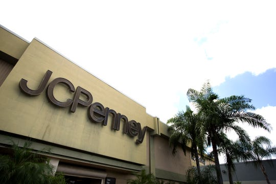 This Monday, Aug. 19, 2013 photo shows the entrance to a J.C. Penney store at a Hialeah, Fla., shopping mall.