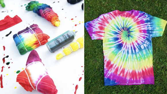 There are several ways to create cool dye patterns.