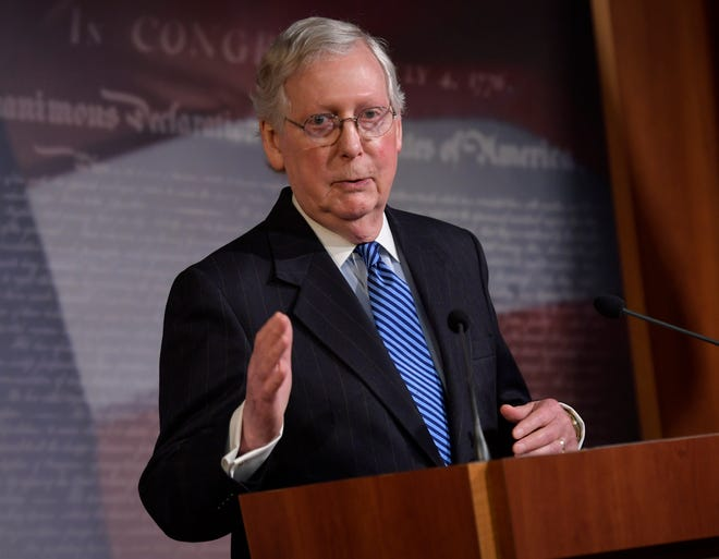 Senate Minority Leader Mitch McConnell, the top-ranking Republican in the federal government, is among the GOP leaders who are undermining the party via his silence.
