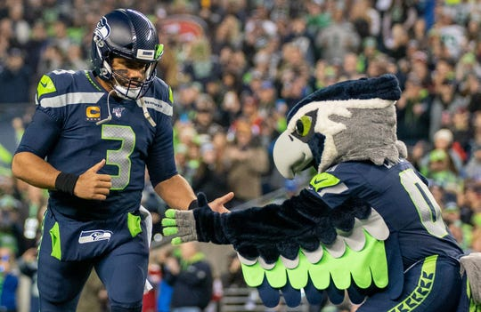 Russell Wilson and the rest of the Seattle Seahawks will play the Buffalo Bills on Sunday, Nov. 8.
