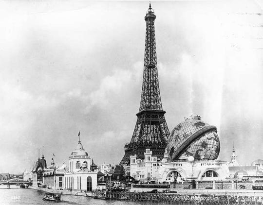 The Paris Exposition formally opened, featuring the just-completed Eiffel Tower, opened on May 6, 1889.