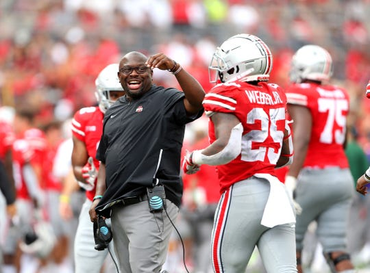 On the heels of coaching J.K. Dobbins to a school single-season record of 2,003 yard rushing, running backs coach Tony Alford landed two of the top RBs in the country