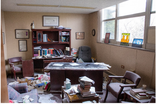 In early April, vandals sprayed a fire extinguisher throughout the church and in the office of the Rev. Joe Ashby, pastor of Grace Episcopal Church.