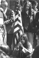 This Daily Record photo of County College of Morris student Linda Tunstead at a campus Peace Rally on May 6, 1970, was later seen nationwide and became one of the iconic images of the antiwar movement.