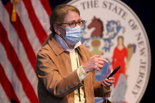 New Jersey Department of Health Commissioner Judy Persichilli is shown after Governor Phil Murphy's Saturday, May 2, 2020, press conference at War Memorial in Trenton, NJ, on the State's response to the coronavirus pandemic.