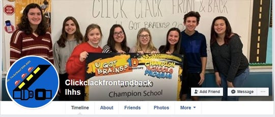 The students have created a Facebook page to promote their drivers safety campaign.